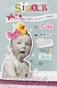 Humorous Sister Like You Birthday Card